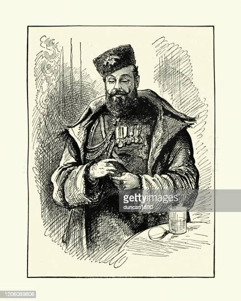 alexander iii of russia,  emperor of russia 19th century - czar stock illustrations