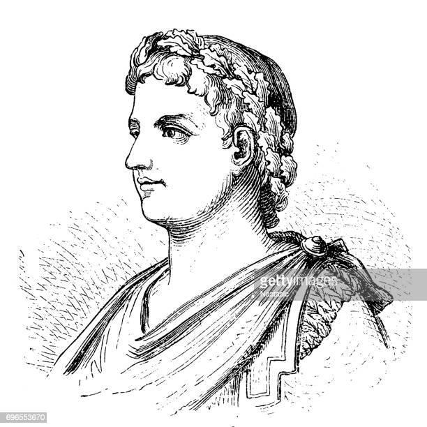 alexander severus (208-235), roman emperor - alexander the great stock illustrations