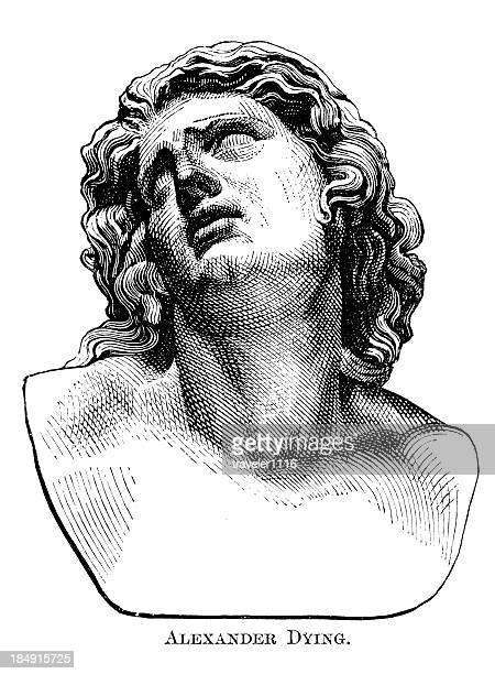 alexander the great - greek culture stock illustrations