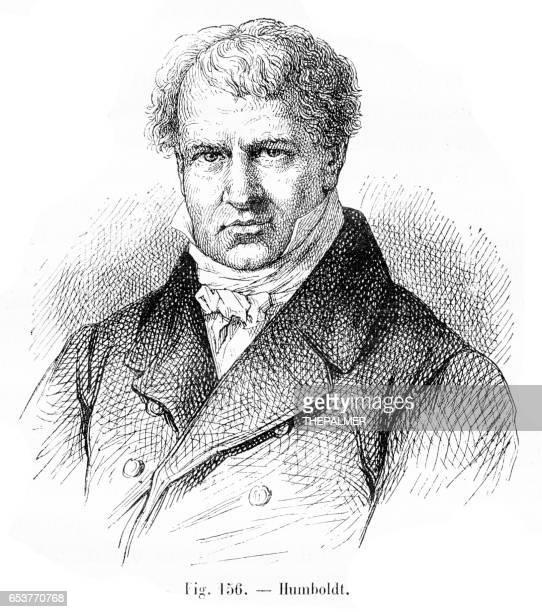 Alexander von Humboldt grabado de 1881