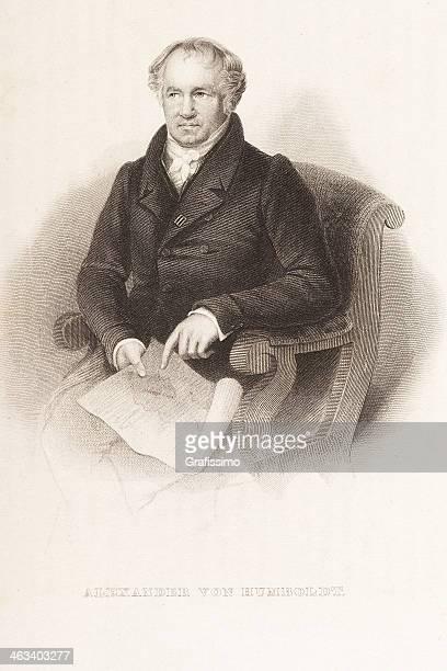 Alexander von Humboldt grabado de 1844