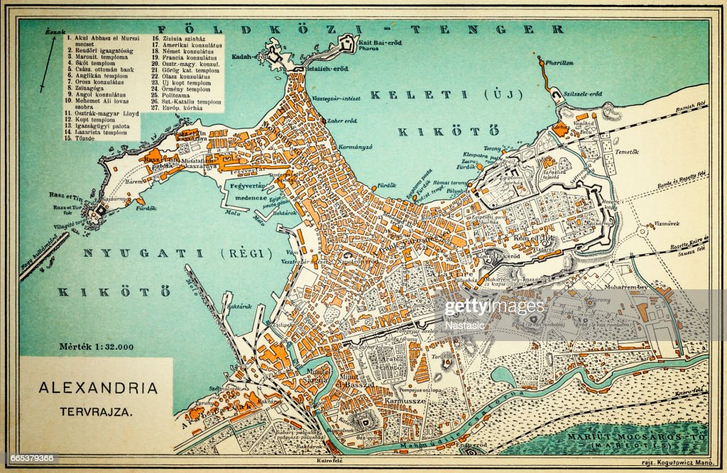 Alexandria Map Stock Illustration Getty Images