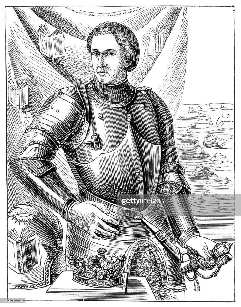 Alfonso V of Aragon : stock illustration