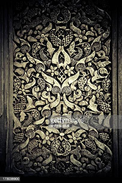 alhambra wall filigree - seville stock illustrations, clip art, cartoons, & icons