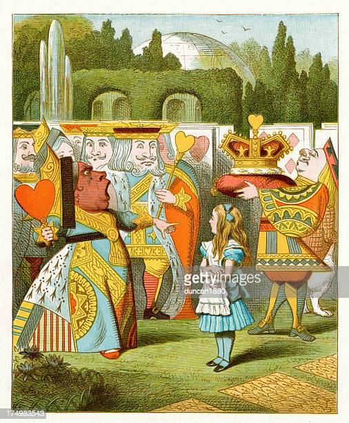 不思議の国のアリス - 女王点のイラスト素材/クリップアート素材/マンガ素材/アイコン素材