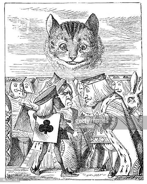 alice in wonderland-queens krocket boden - john tenniel stock-grafiken, -clipart, -cartoons und -symbole