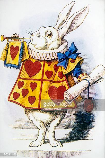 alice's adventures in wonderland - easter bunny stock illustrations