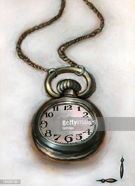 ilustraciones, imágenes clip art, dibujos animados e iconos de stock de alice de reloj de bolsillo - reloj de bolsillo