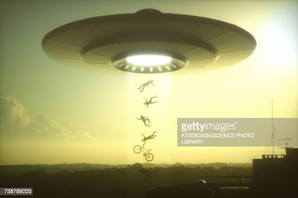 Alien abduction, illustration
