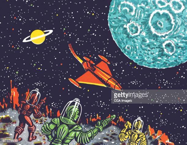 alien - exploration stock illustrations