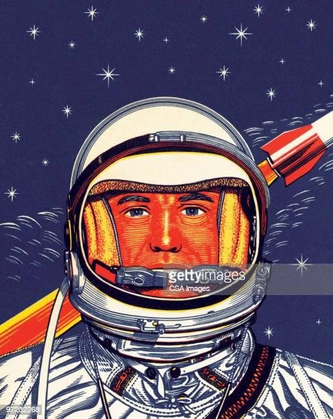 ilustrações de stock, clip art, desenhos animados e ícones de alien - astronauta