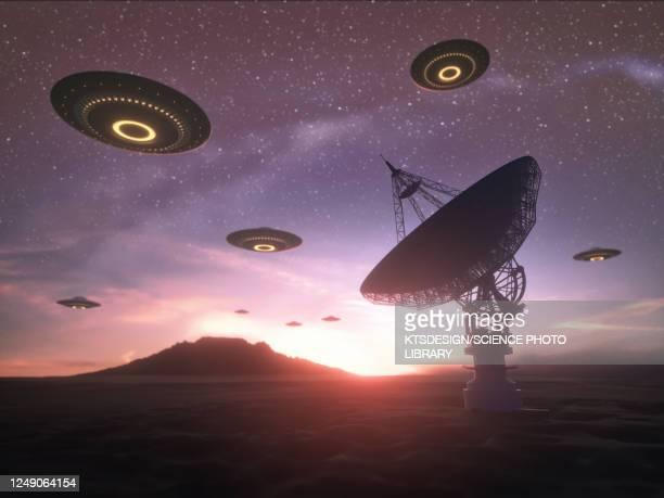 alien invasion, illustration - physics stock illustrations