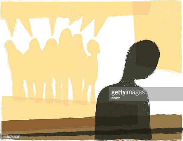ilustraciones, imágenes clip art, dibujos animados e iconos de stock de alineación - bullying