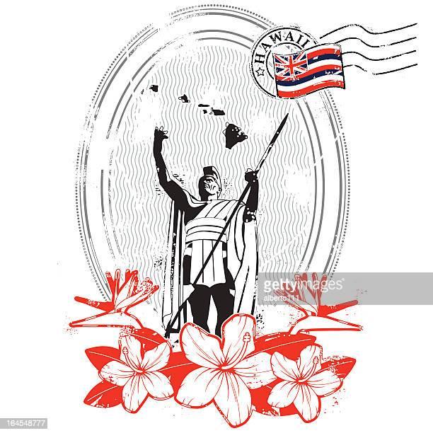 all hail king kamehameha - honolulu stock illustrations