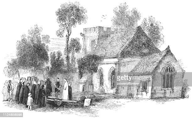 All Saints Church at Weston-on-Avon in Warwickshire, England - 17th Century
