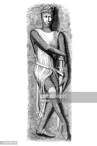 alleged statue, duke roberts of normandy - normandy stock illustrations