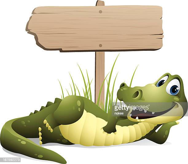 Alligator - road sign