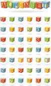 alphabet on a baby cubes