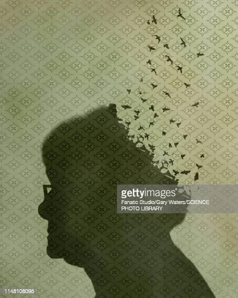 stockillustraties, clipart, cartoons en iconen met alzheimer's disease, conceptual illustration - ziekte van alzheimer