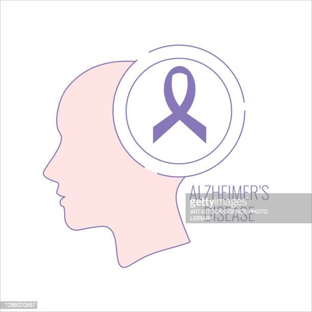 alzheimer's disease, conceptual illustration - the ageing process stock illustrations