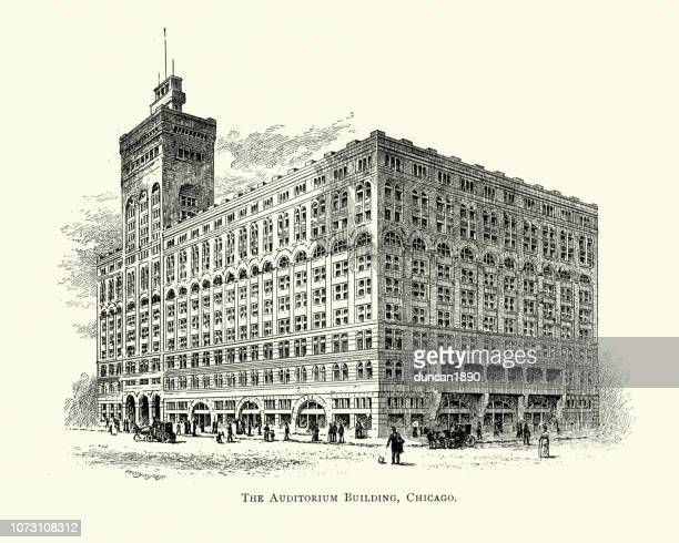 American Architecture, Auditorium Building, Chicago, USA, 19th Century