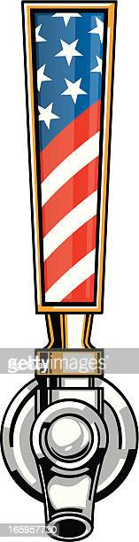 american beer tap - handle stock illustrations, clip art, cartoons, & icons