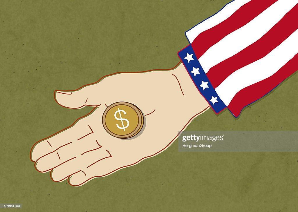 American Charity : stock illustration