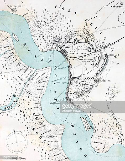 american civil war map - mississippi stock illustrations