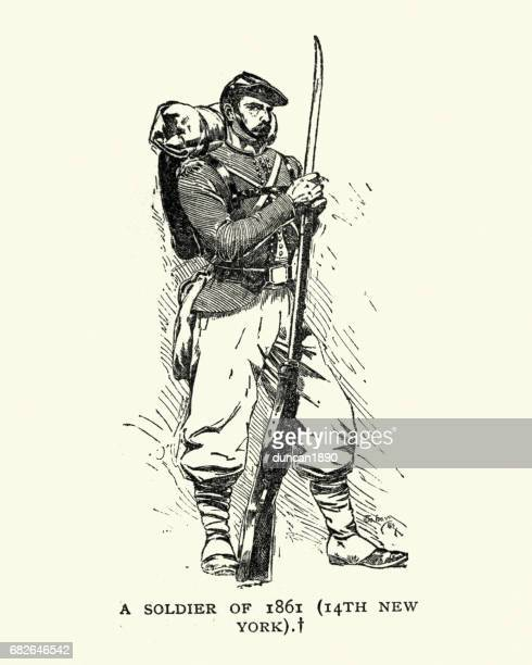 american civil war soldiers stock illustrations and cartoons getty