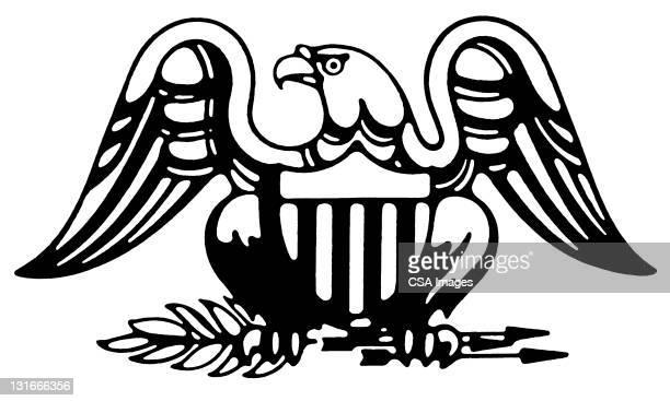 american eagle - bald eagle stock illustrations