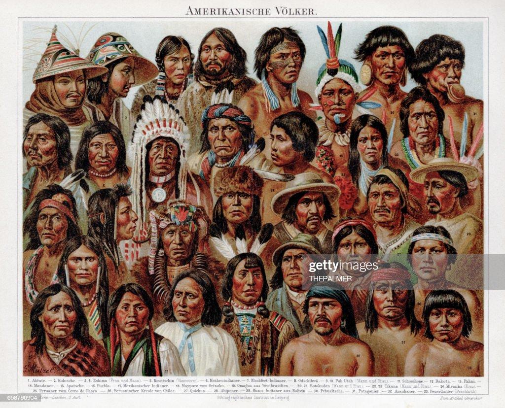American ethnicity chromolithograph 1895 : stock illustration