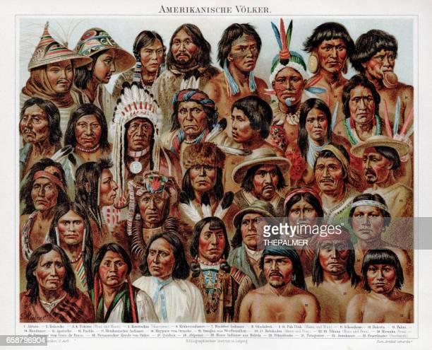 American ethnicity chromolithograph 1895