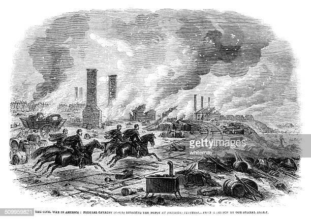 American Federal Cavalry scouts, Manassas Junction (1st Battle, Bull Run)