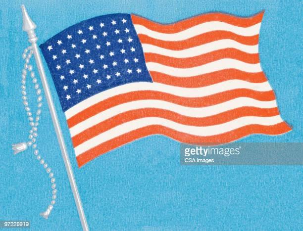 american flag - 1990 1999 stock illustrations