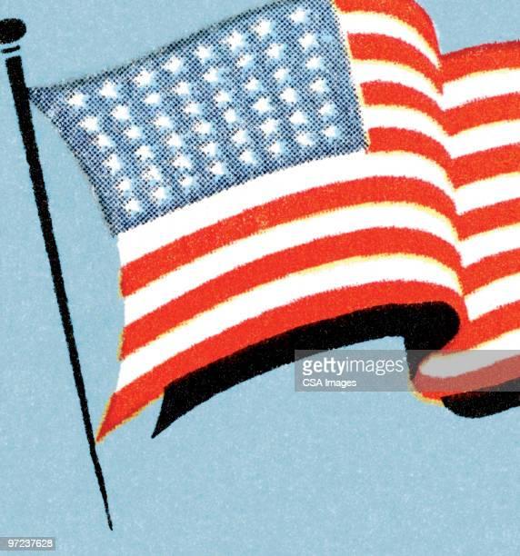american flag - national flag stock illustrations