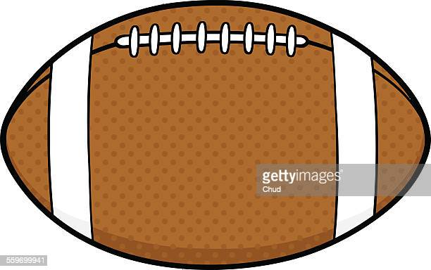 american football ball - rugby ball stock illustrations, clip art, cartoons, & icons