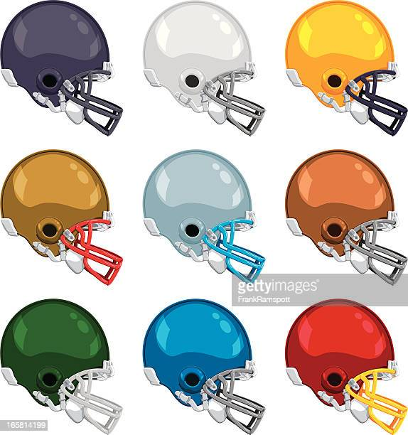 American Football Helmet Color Collection