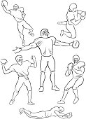 American Football playing figures 5