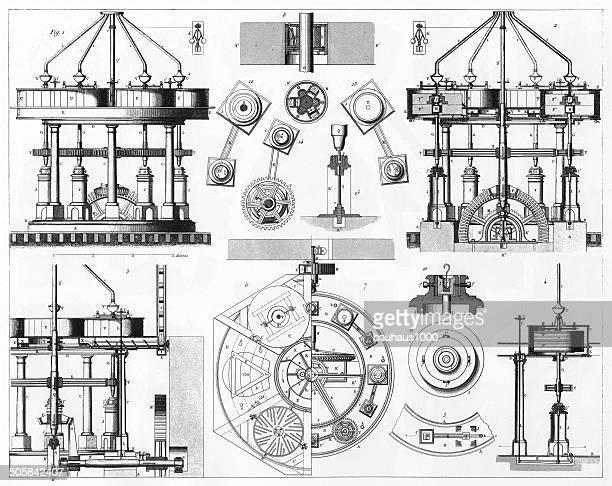 American Grinding Mill Engraving