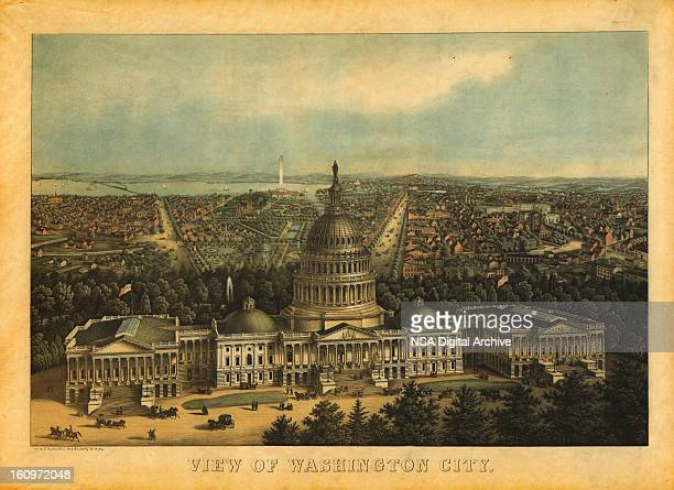 American History Illustrations | View of Washington DC, 1857
