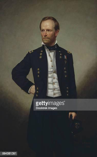 American history painting of Civil War General William Sherman.