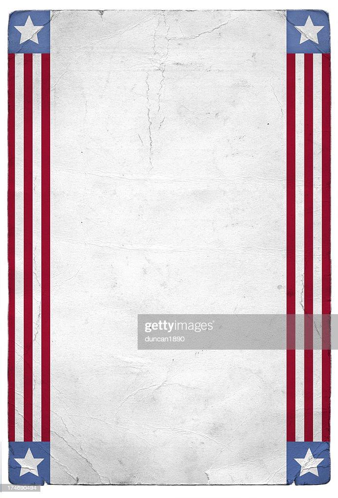 American Patriotic Background : stock illustration