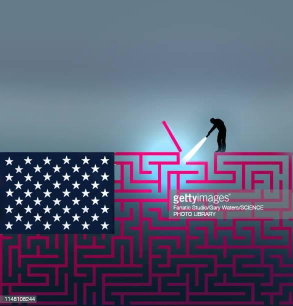 american problems, conceptual illustration - senat stock-grafiken, -clipart, -cartoons und -symbole