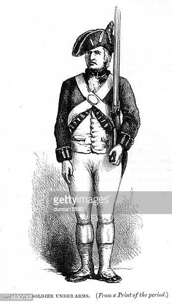 ilustraciones, imágenes clip art, dibujos animados e iconos de stock de american soldier guerra de independance - american revolution