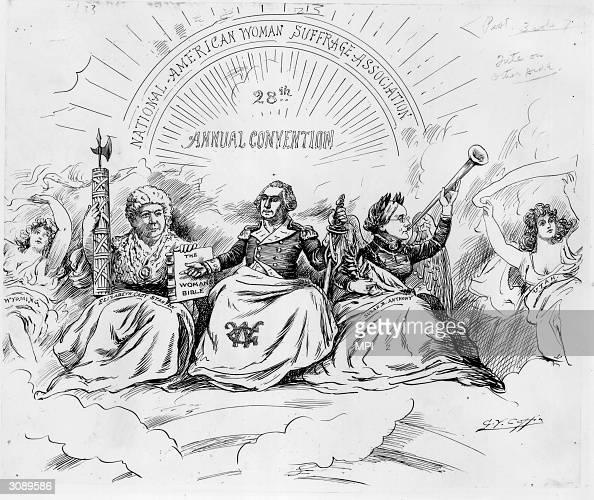 American suffragettes Elizabeth Cady Stanton and Susan