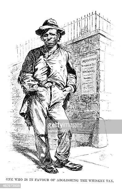 american tramp - vagabond stock illustrations, clip art, cartoons, & icons
