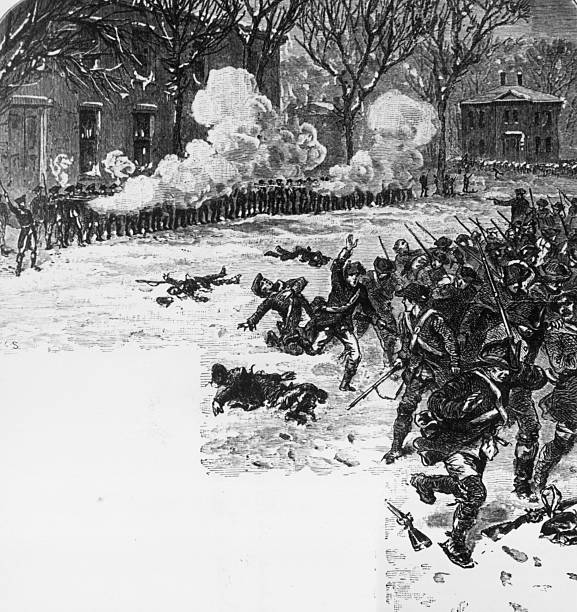 American troops fighting rebels during Shay's rebellion...