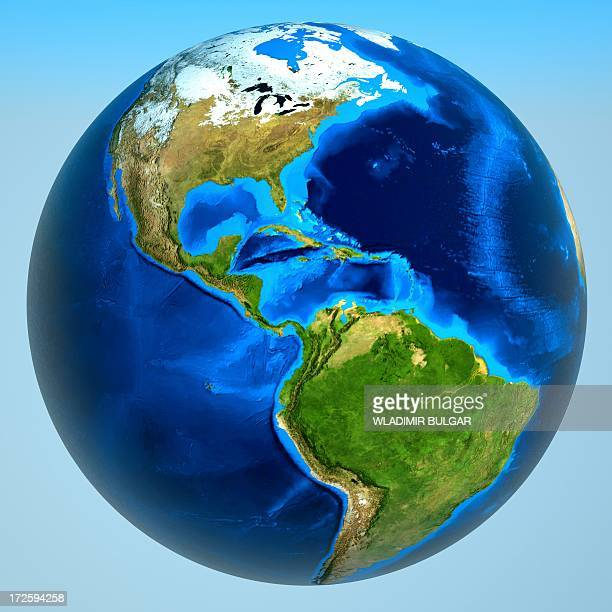 americas, artwork - satellite view stock illustrations