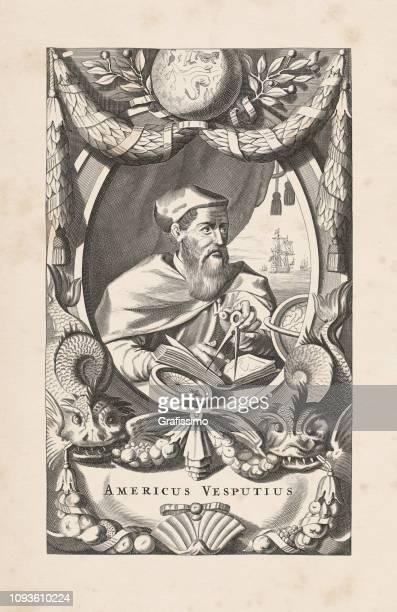 アメリゴ ・ ヴェスプッチのイタリアの探検家の肖像 1671 - 探検家点のイラスト素材/クリップアート素材/マンガ素材/アイコン素材