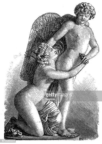 amor and psyche - human sexual behavior stock illustrations, clip art, cartoons, & icons